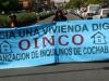 Miembros de la OINCO se movilizan contra las politicas de vivienda del gobierno